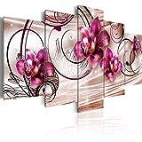 Quadro 200x100 cm ! Tre colori da scegliere - 5 Parti - Grande Formato - Quadro su tela fliselina - Stampa in qualita fotografica - fiori 020110-148 200x100 cm B&D XXL