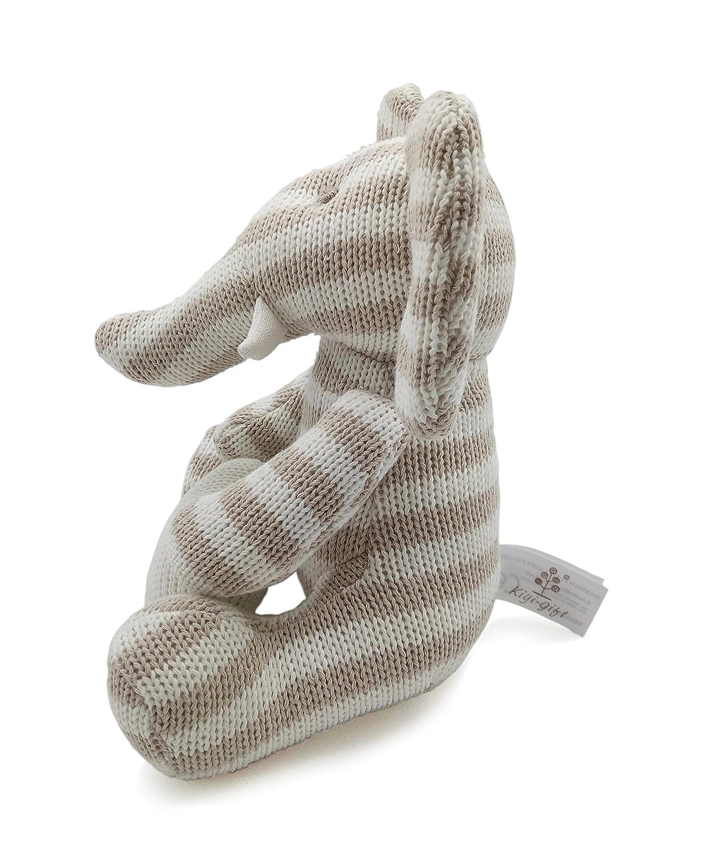 Algod/ón Org/ánico Suave para beb/é Kiyi-Gift Beb/é Juguete Adorable Juguete de Peluche de Elefante con Coraz/ón