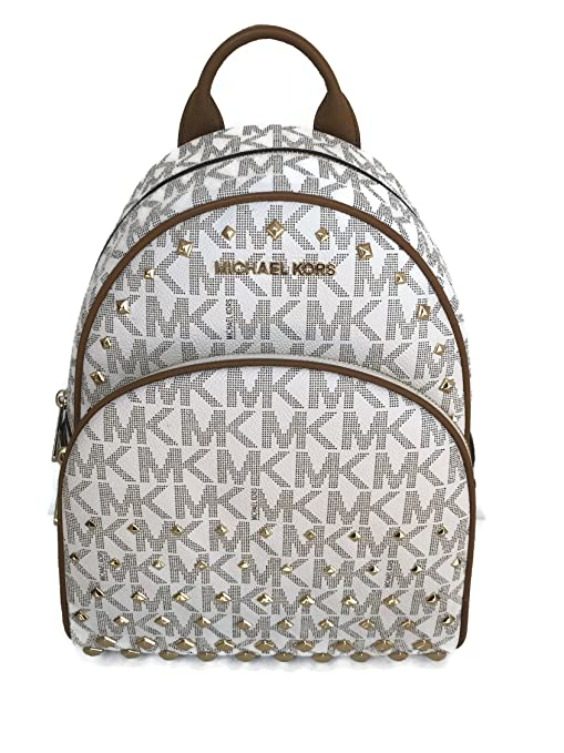 d199006e5e27 ... wholesale michael kors abbey medium backpack vanilla mk signature  studded acorn 36459 cb273