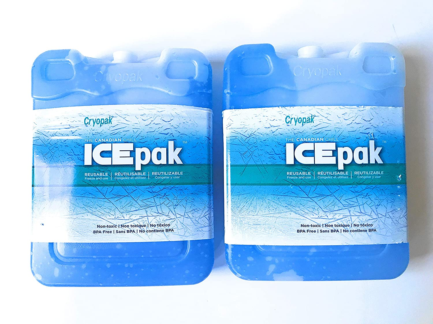 Cryopak Large Hard Shell Ice Packs - Set of 2-8 Inches Tall X 6 Inches Wide X 1.5 Inches Deep - Perfect Ice Packs for Coolers - Great Value!