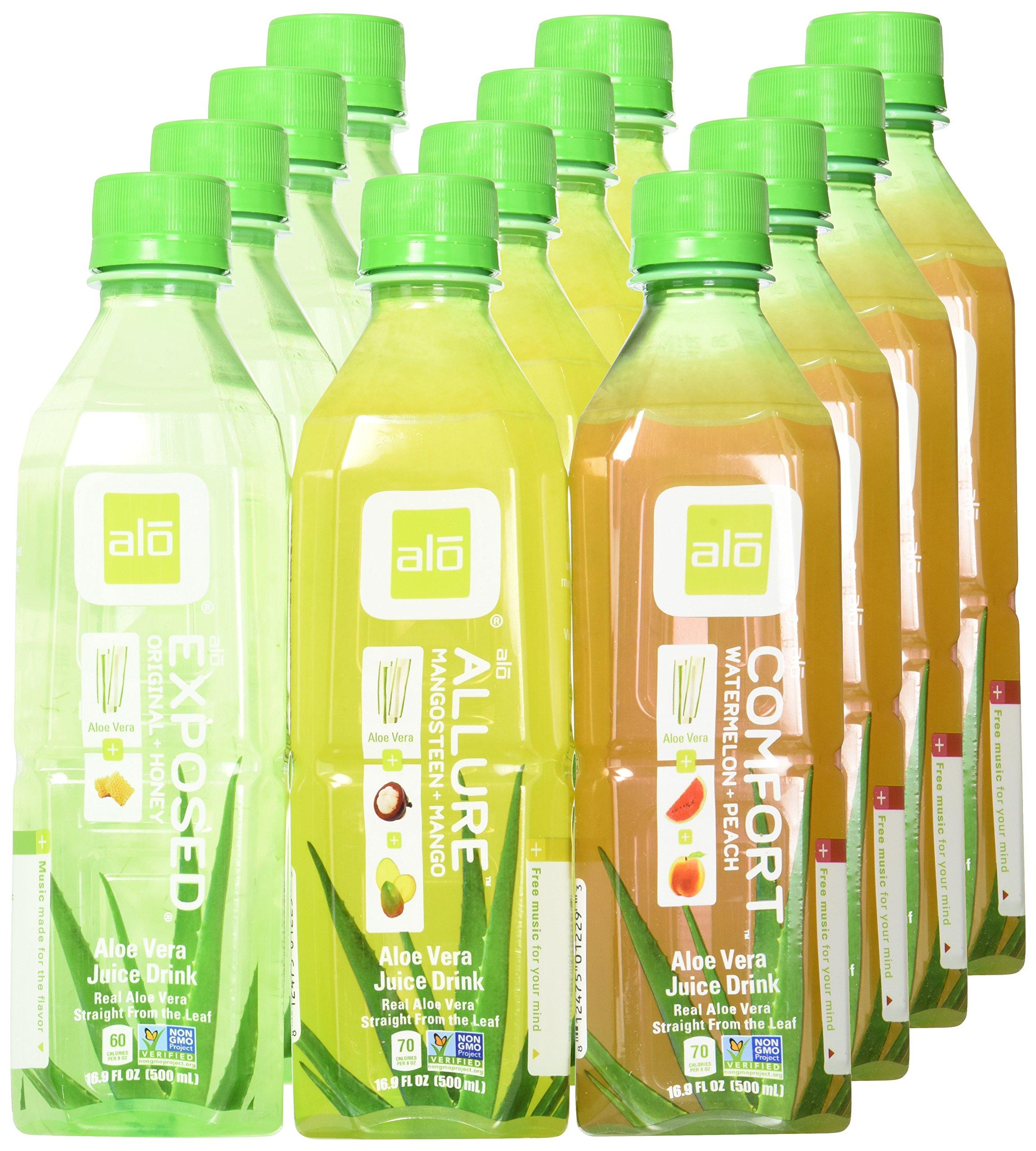 alo Aloe Vera Drink Variety 16.9 oz Bottle (Pack of 12) by ALO (Image #2)