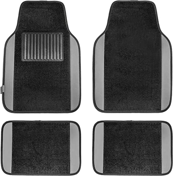 Premium Connected Essentials 5019080 Tailored Heavy Duty Custom Fit Car Mats Grey with Grey Trim