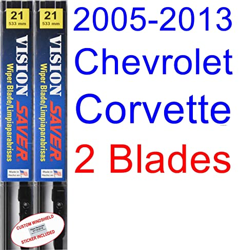 2005-2013 Chevrolet Corvette Replacement Wiper Blade Set/Kit (Set of 2 Blades