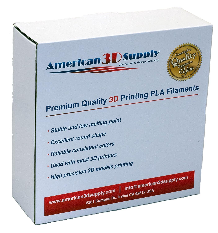 American 3d suministros pla filamento 3d impresora, 1 kg bobina, 1 ...