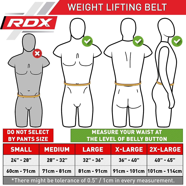 M RDX Leder Gym Training 4 Gewichtheberg/ürtel Fitness G/ürtel Dreikampfg/ürtel Schwarz schwarz gold