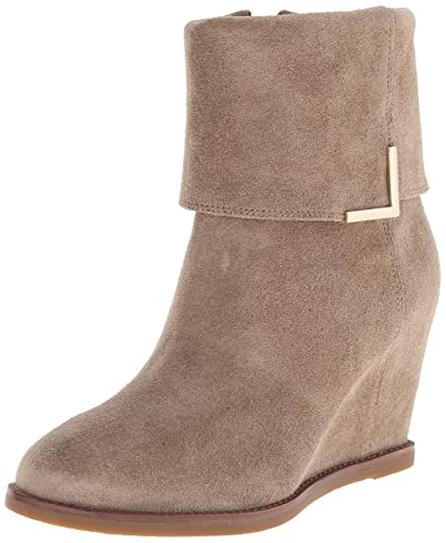 Johnston & Murphy Women's Brynn Cuff Bootie Taupe Oiled Suede Boot ...