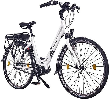 POWERPAC Citybike Bicicleta urbana de 28 pulgadas, motor central ...