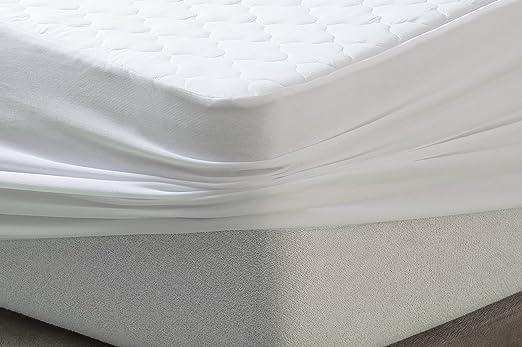 SAVEL, Protector Acolchado tacto seda, Reversible, 150x190cm (para camas de 150): Amazon.es: Hogar