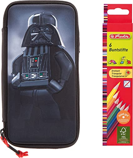 Set: Lego estuche 3d Pencil Case 20027 – 1726 Star Wars Darth Vader + 6 lápices: Amazon.es: Oficina y papelería