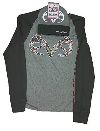 4c919bf78 Fashion Realtree Camo Antlers Long Sleeve Graphic T-Shirt   Beanie Combo -  Small