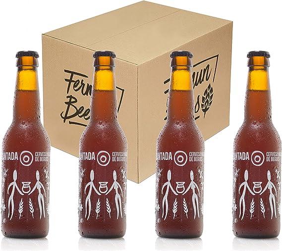 Pack de 4 Botellas 33CL Cerveza artesana Fermun Beer Neolitica Encantada Gruit Fruit: Amazon.es: Alimentación y bebidas