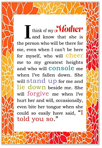 Amazon Mom Quotes Wall Decor 8 X 12 Wrapped Canvas Wall Art
