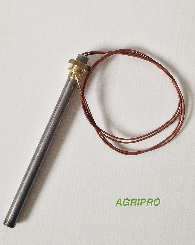 Agripro - Bujía de precalentamiento con resistencia de arranque (9,5 x 140 W 250 A VITE 3/8 GAS)