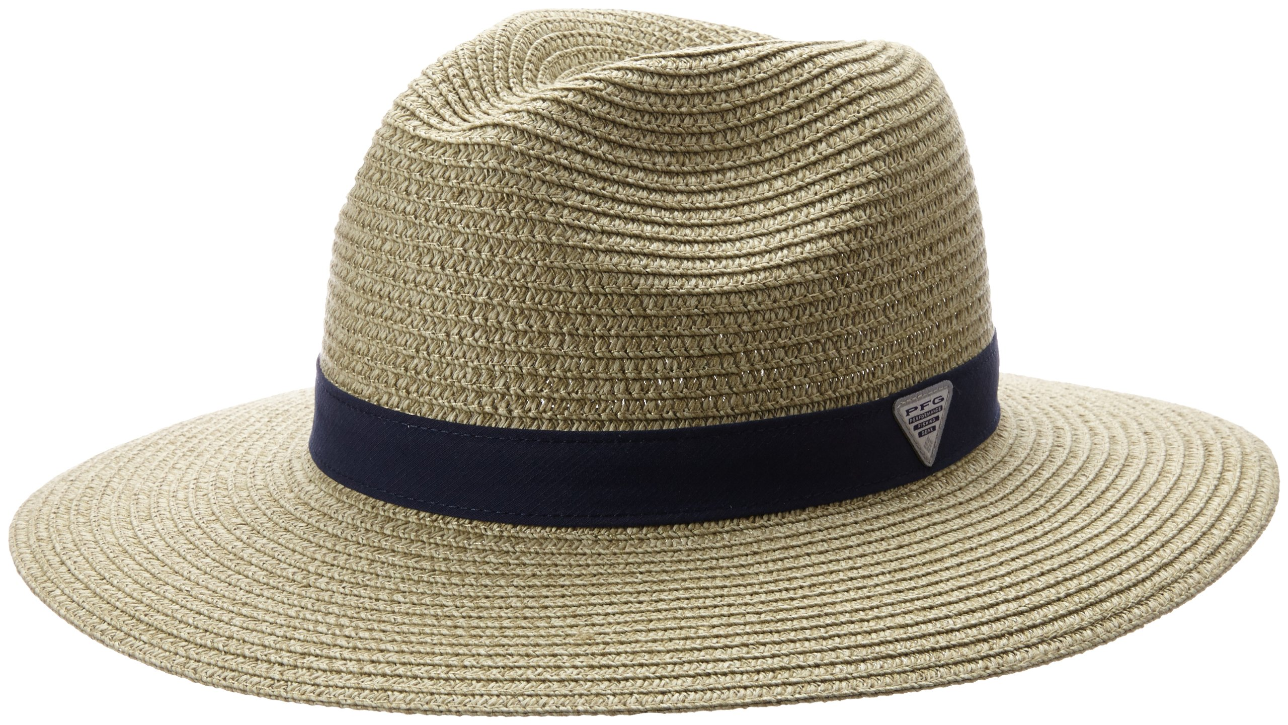 Columbia Bonehead Straw Hat, Fossil/Collegiate Navy, Large/X-Large