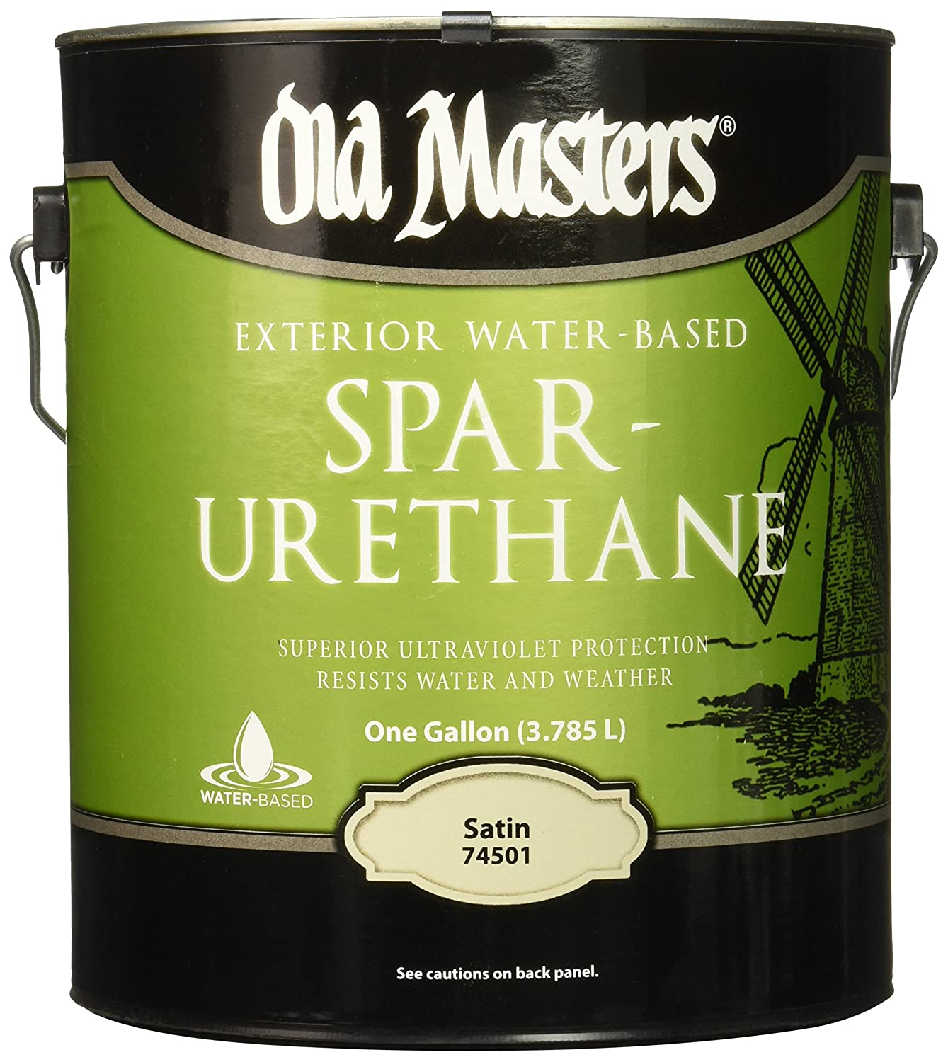 OLD MASTERS 74501 Satin Water Based Spar Urethane