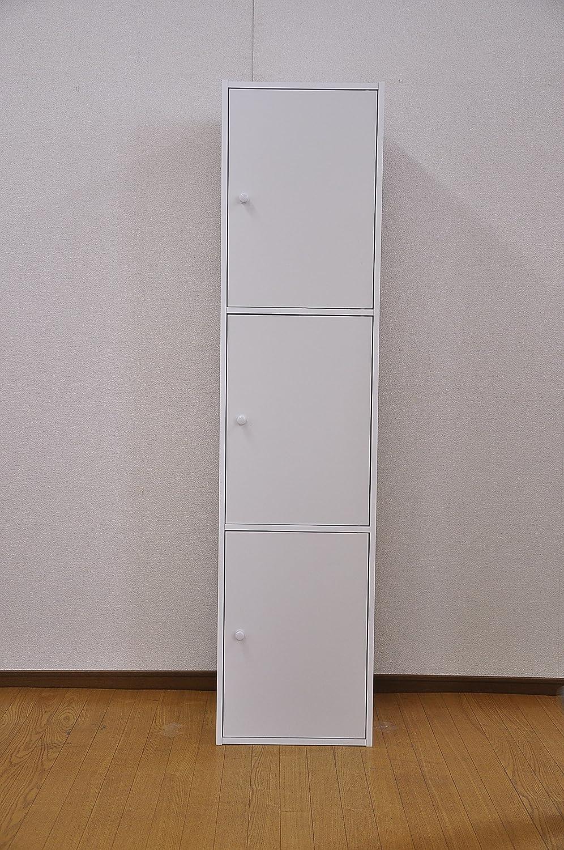 マルチカラーボックス 3D 【NEST】 3ドアタイプ ET-T3D (ホワイト) B004WIO1CE ホワイト ホワイト