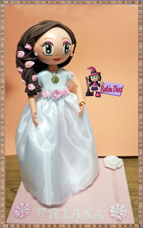 7a1e4d434e77 Fofucha Mi primera Comunión niña muñeca artesanal 35 cms  Amazon.es   Handmade