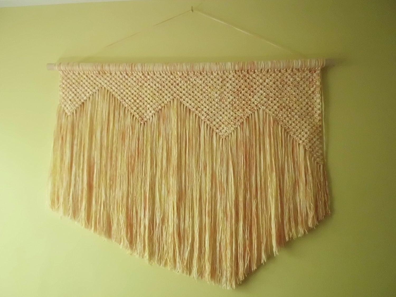 Amazon.com: Macrame Wall Hanging Woven - Boho Chic Bohemian Home ...