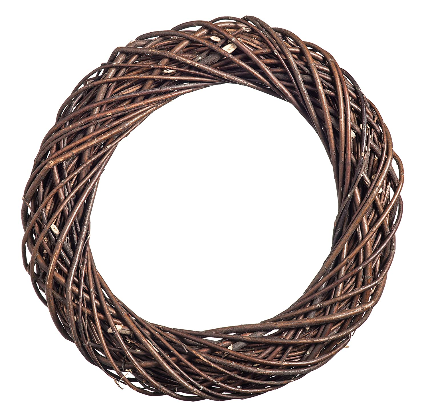 Prestige Wicker Dark natural Willow Chunky Wreath Large