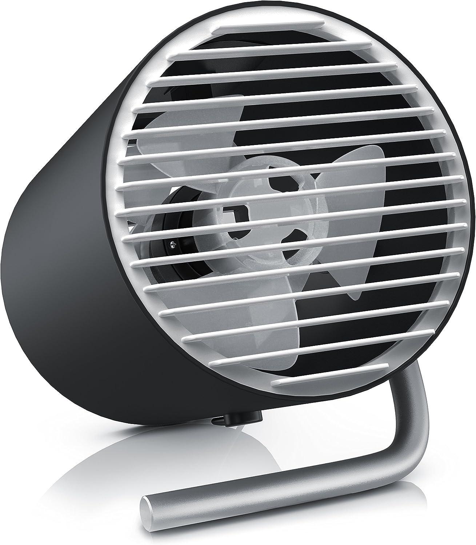 CSL - USB Ventilador portátil - Ventilador de Mesa Ventilador de Escritorio - Regulación de Velocidad de Dos Niveles táctil - Silencioso máx. 45 dB A - Ángulo de inclinación Aprox. 30 Grado