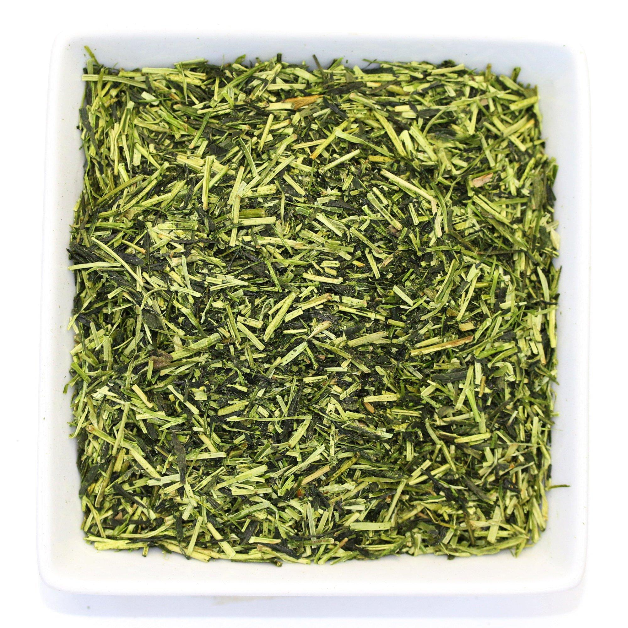 Tealyra - Premium Kukicha Twig Kabuse - Japanese Green tea - Organically Grown - Loose Leaf Tea - Mild Slightly Nutty Flavour - High Level of Antioxidants - Caffeine Level Low - 100g