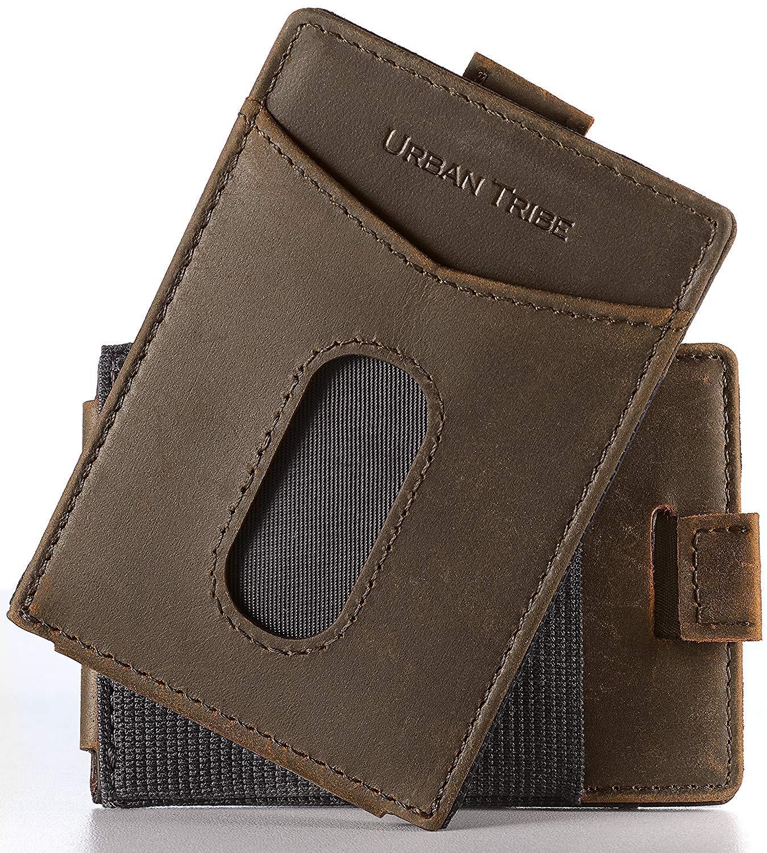 02e5dceda470 Amazon.com: Urban Tribe Slim Money Clip Wallet EDC Front Pocket Card Holder  Minimalist RFID Sleeve Wallet: Home & Kitchen
