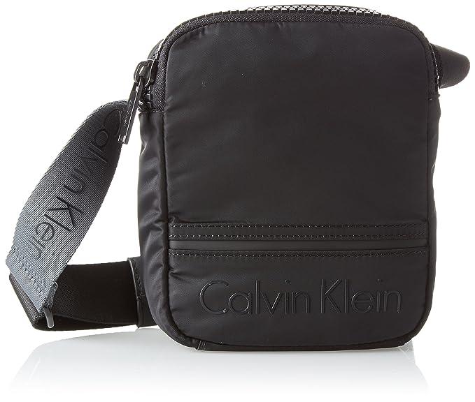 Calvin Klein - Matthew 2.0 Mini Reporter, Bolso Hombre, Negro (Black),