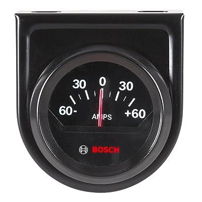 "Bosch SP0F000059 2"" Style Line Ammeter Gauge (Black Dial Face, Black Bezel): Automotive"