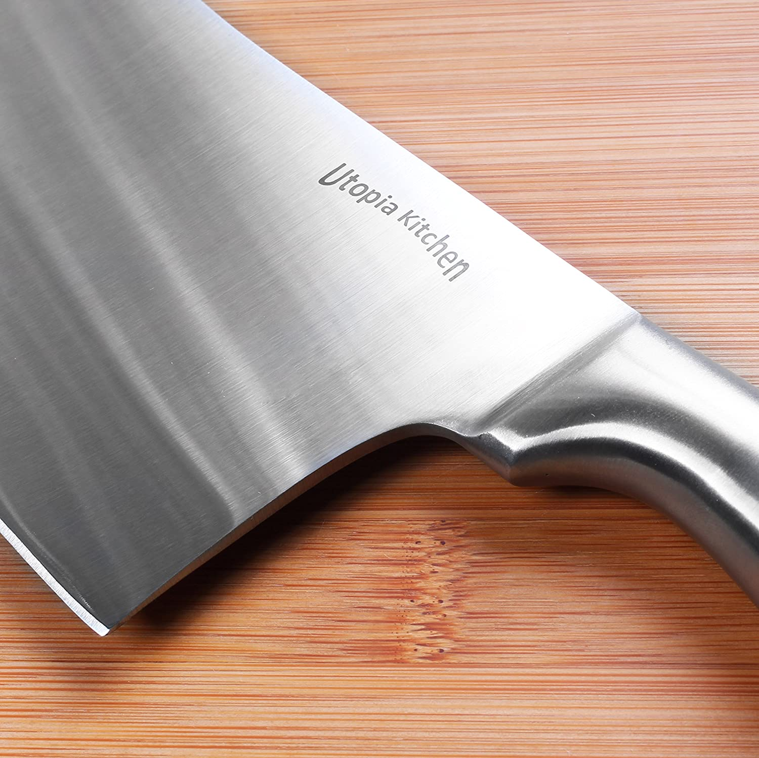 amazon com 7 inch stainless steel cleaver chopper butcher