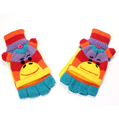 Belle tricot gants en tricot Motif Animal Motif Animal hiver gants gants moufles nouvelle collection