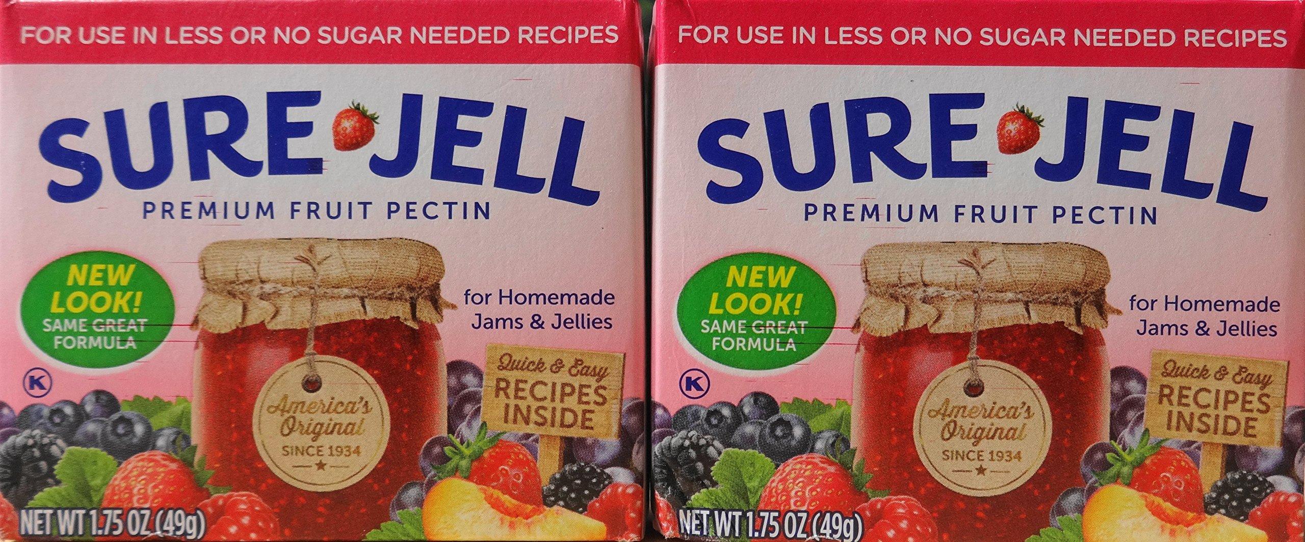 Sure Jell Premium Fruit Pectin, 1.75 Oz (49g) Twin Pack