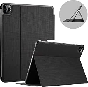 ProCase iPad Pro 11 Case 2nd Generation 2020 & 2018 [Support Apple Pencil 2 Charging], Slim Stand Protective Folio Case Smart Cover for iPad Pro 11 Inch 2020 2018 Release -Black