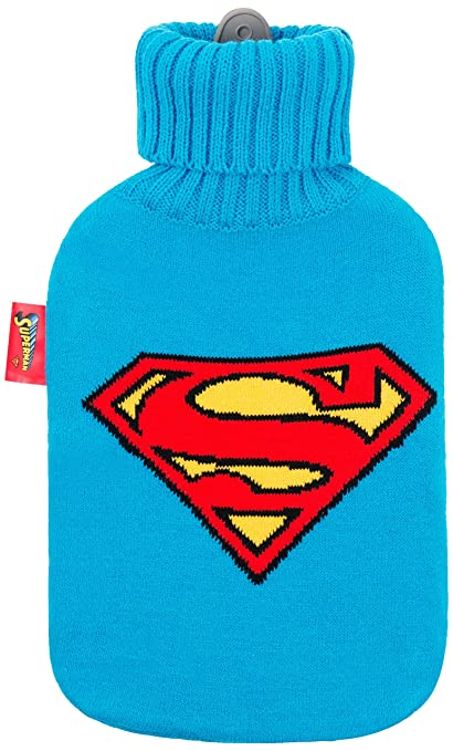 Excelsa Superman Bolsa para Agua Caliente, Goma/Textil ...