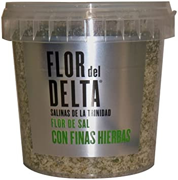 Flor del Delta Natural Sea Salt with Fine Herbs, 14.1-Ounce