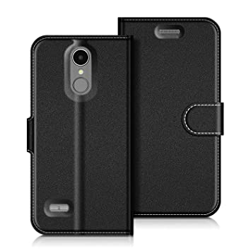 check out a0a64 37a87 COODIO LG K8 2017 Case, LG K8 2017 Leather Case, LG K8 2017 Wallet Case,  Magnetic Closure Flip Folio Case Cover [Wallet Stand] Card Slots For LG K8  ...