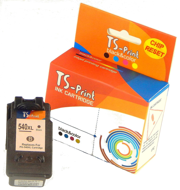 TS-Print 3X Cartuchos de Tinta PG-540XL CL-541XL Pack para Canon Pixma TS5150 TS5051 MX375 MX395 MX435 MX455 MX475 MX525 MX535 MG2150 MG2250 MG3150 ...