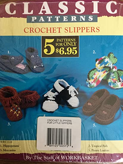 Amazon Classic Patterns Crochet Slippers Patterns Arts Crafts