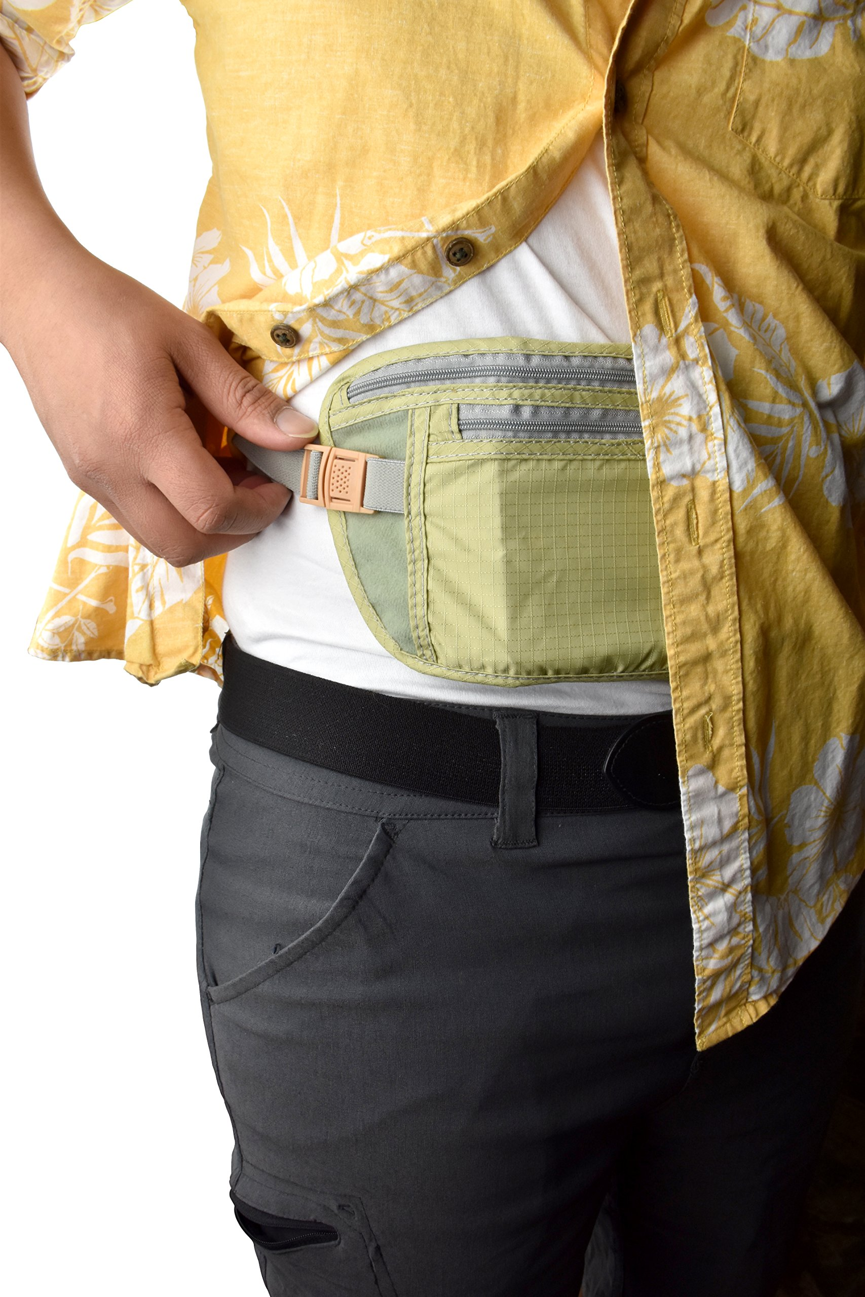 SE TP101-POUCH Concealed Dual Zipper Travel Pouch by SE (Image #5)