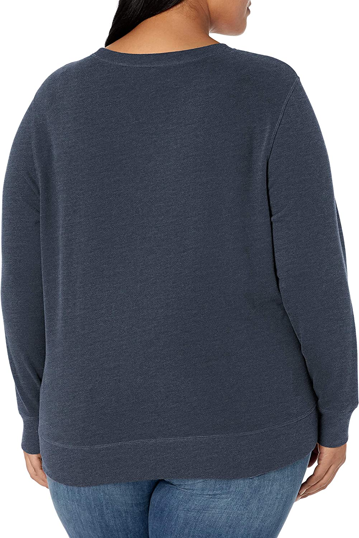 fashion-hoodies Femme Essentials Plus Size French Terry Fleece Crewneck Sweatshirt