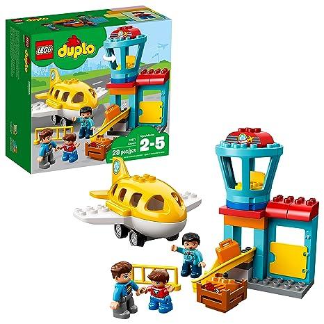 4bcdc4d2d6e Amazon.com: LEGO DUPLO Town Airport 10871 Building Blocks (29 Piece): Toys  & Games