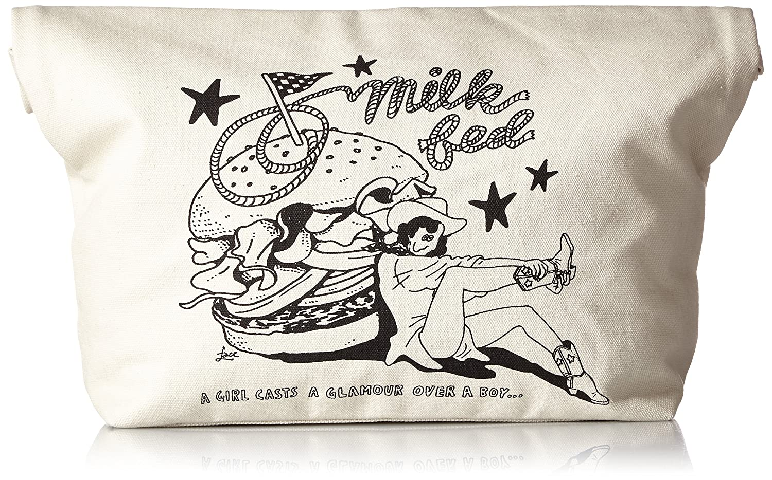 Amazon | [ミルクフェド] MILKFED. CLUTCH BAG HAMBURGER 03162024 00 (WHITE) | クラッチバッグ