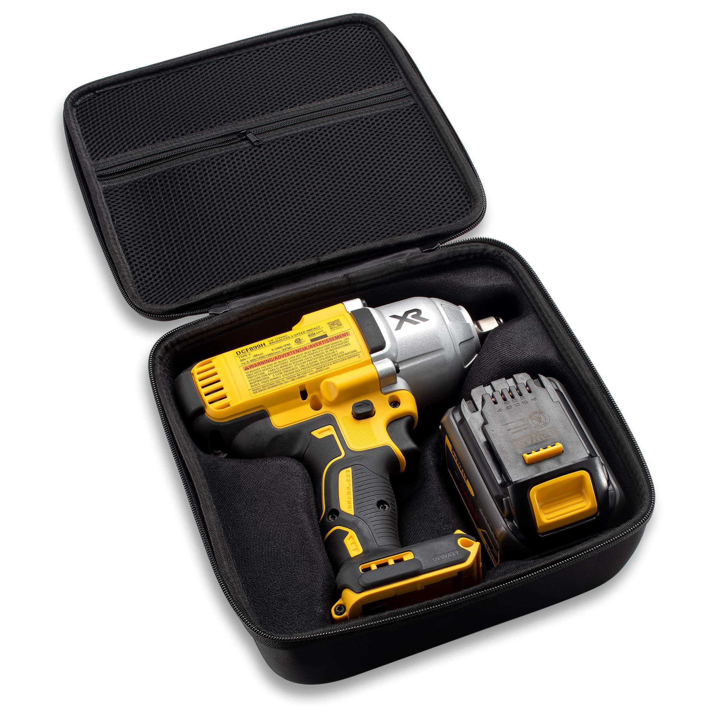 Caseling Hard Case Fits Dewalt DCF899HB / DCF899B 20V MAX XR Brushless High Torque 1/2'' Impact Wrench with Hog Ring Anvil & Battery Pack by caseling (Image #2)