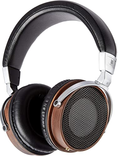 Monolith M600 Over Ear Headphones – Black Wood with 50mm Driver, Open Back Design, Light Weight, and Comfort Ear Pads