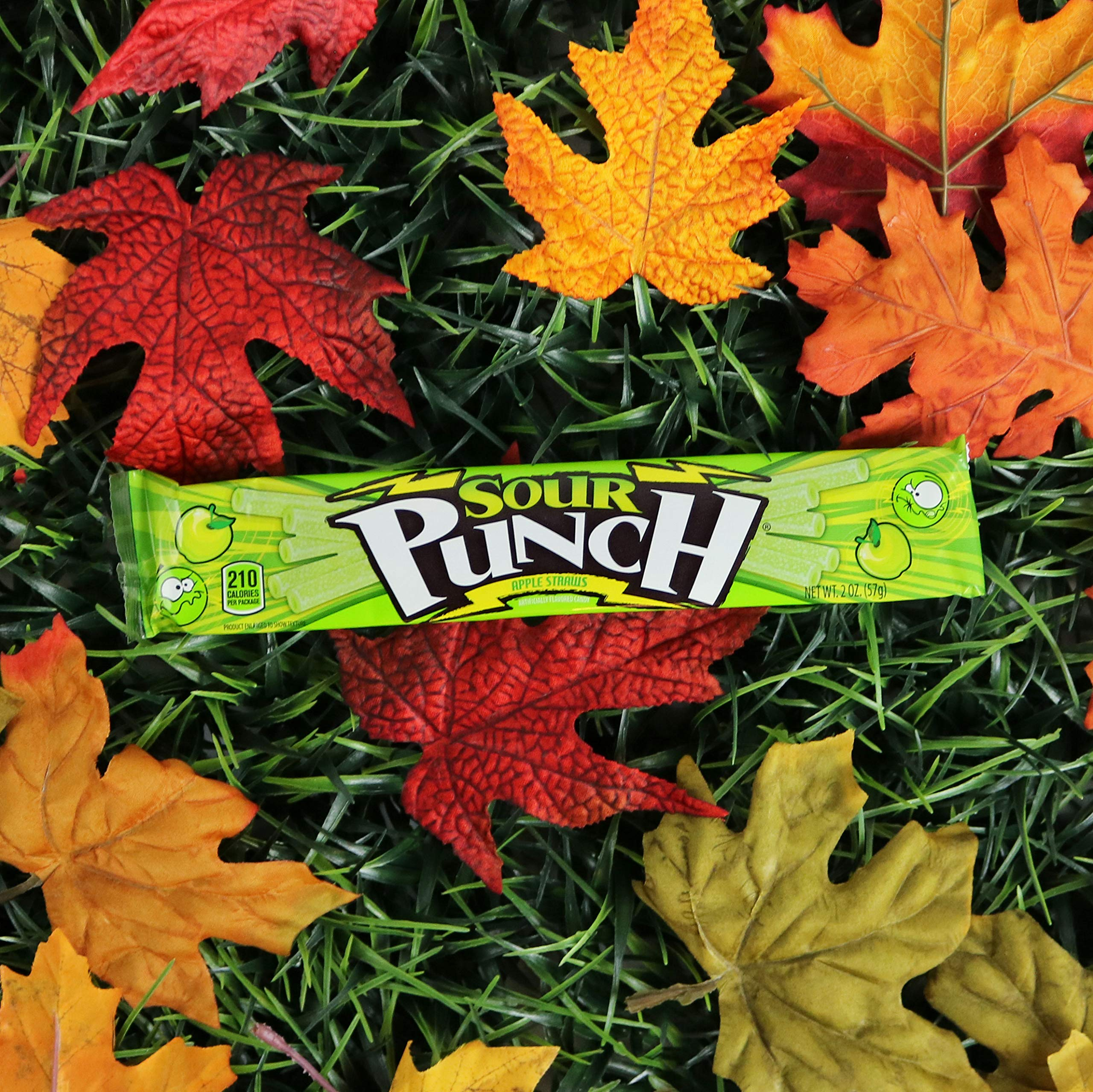 Sour Punch Straws, Sweet & Sour Apple Fruit Flavor, Soft Chewy Candy, 2oz Tray (24 Pack) by Sour Punch (Image #6)