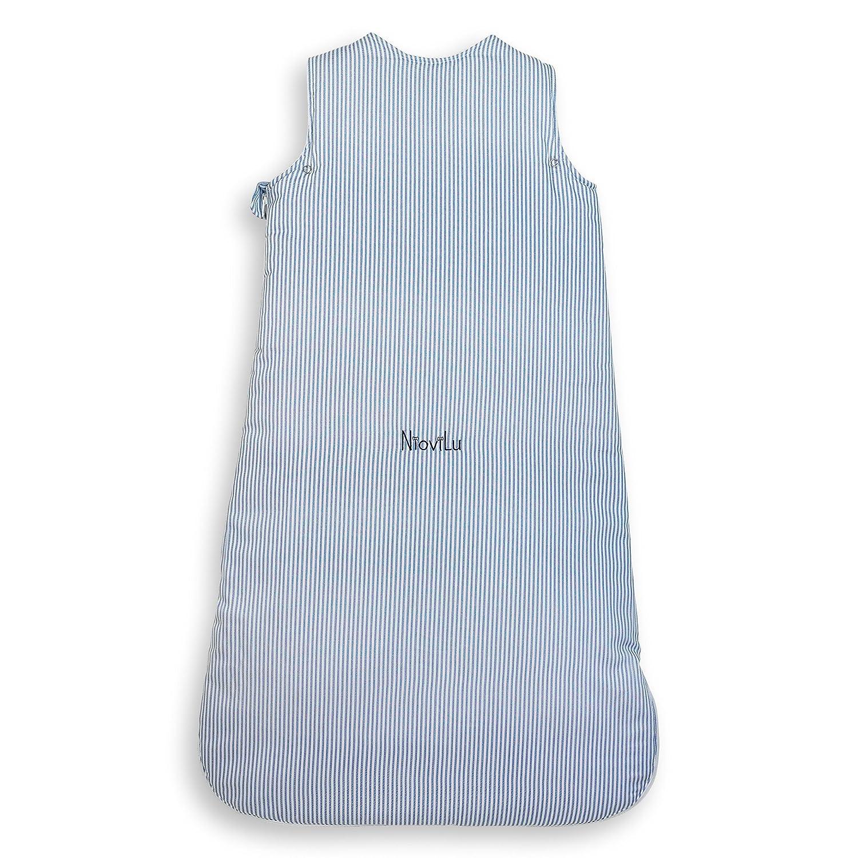 0-6 meses // 70 cm - 2.5 Tog Blue Sloop NioviLu Design Saco de dormir para beb/é