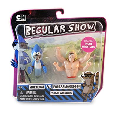 Regular Show Thumb Wrestlers-Mordecai vs. Forearmegeddon Puppet: Toys & Games