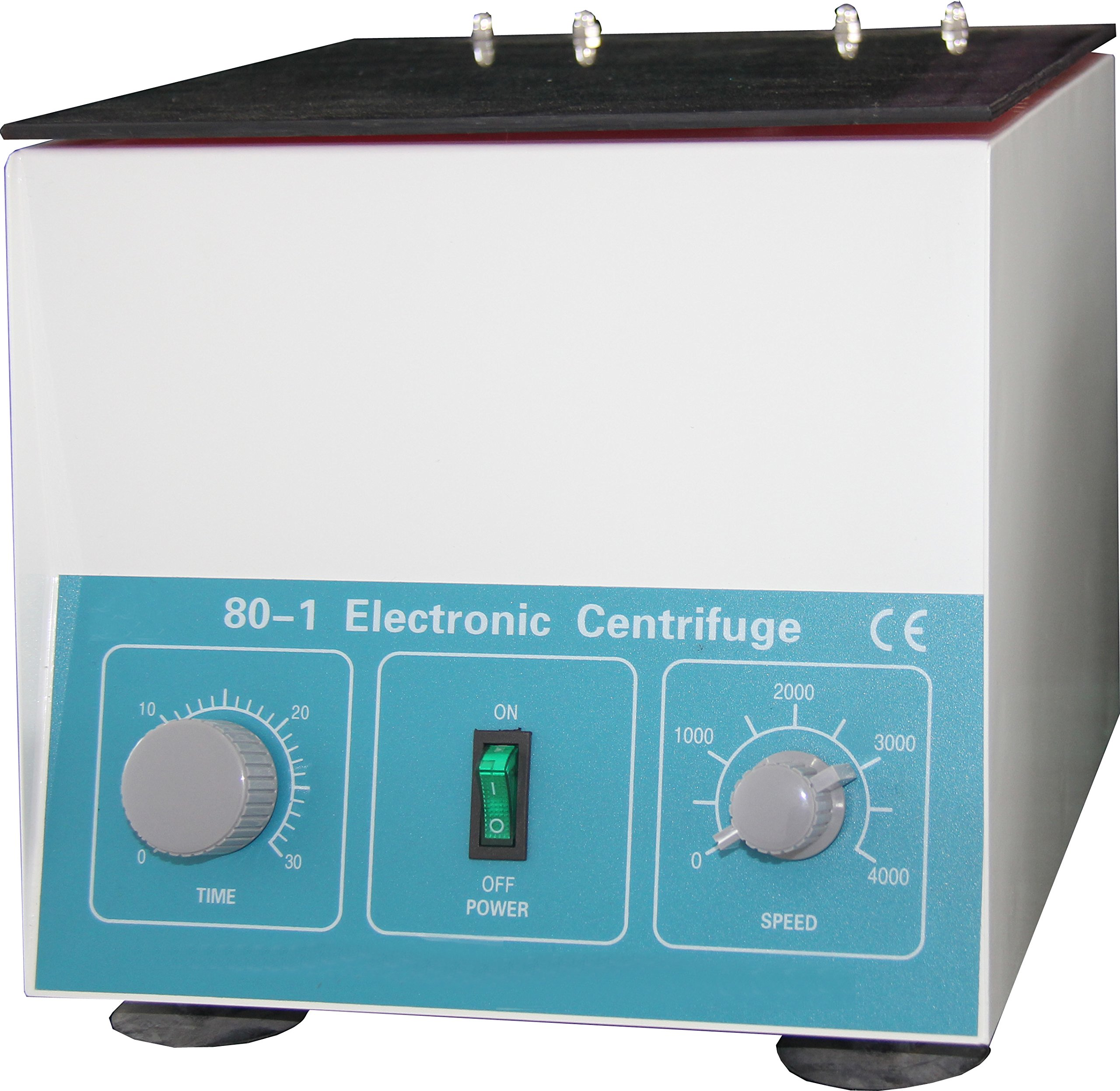 HFS (R) New Desktop Electric Centrifuge Lab (Timer 0-30min) Speed: 0-4000 Rpm, Cap:20ml X 6 Tube (80-1) 110v/60hz by Hardware Factory Store (Image #1)