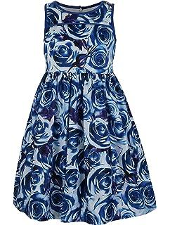 f3e188a37ae Amazon.com  Emma Riley Girls  Satin A-Line Party Dress with Pleats ...