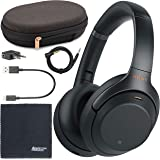 Sony WH-1000XM3 Wireless Noise-Canceling Over-Ear Headphones (Black) WH1000XM3/B + AOM Bundle - International Version (1…