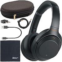 Sony WH-1000XM3 Wireless Noise-Canceling Over-Ear Headphones (Black) WH1000XM3/B + AOM Bundle - International Version (1…